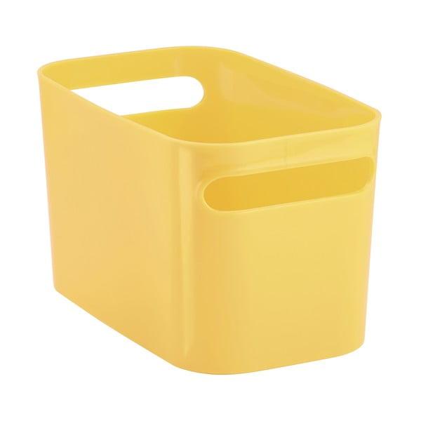 Úložný koš Una Yellow, 25,5x15x15 cm