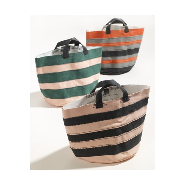 Sada 3 plátěných košíků Marie Grip, 22 cm