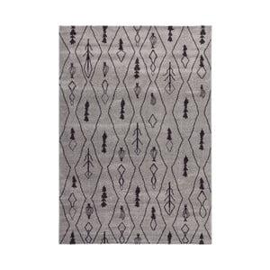 Covor Kayoom Tassala, 120x170cm, gri argintiu - negru