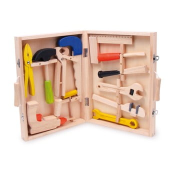 Trusa meșterului, jucărie din lemn DYI Legler Toolbox imagine