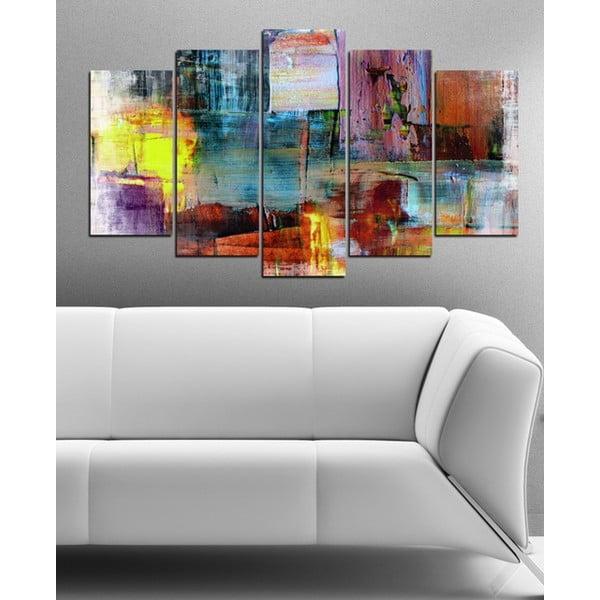 5dílný obraz Abstraktní barvy