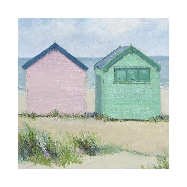 Obraz na plátně Na pláži, 40x40 cm