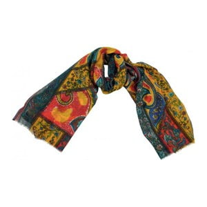 Vlněný šátek Shirin Sehan Magdalena Pomegranate