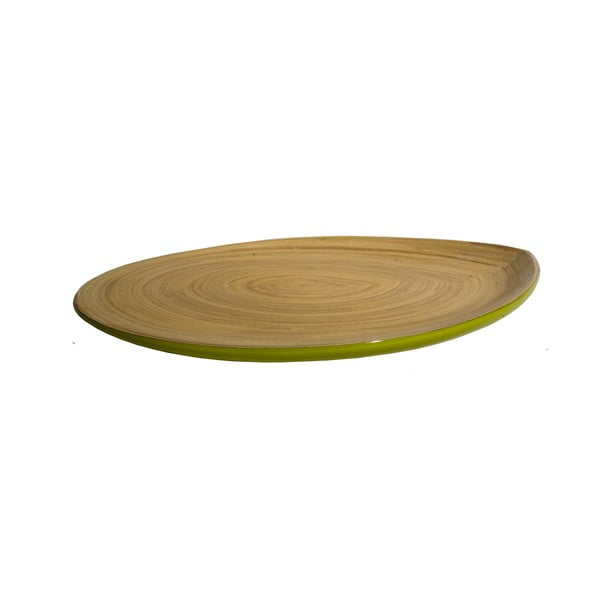 Bambusový talíř Apero Plate, zelený