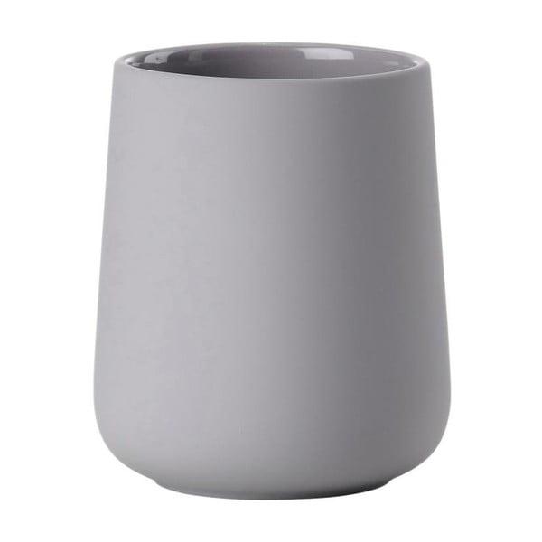 Nova One szürke agyagkerámia fogkefetartó pohár - Zone