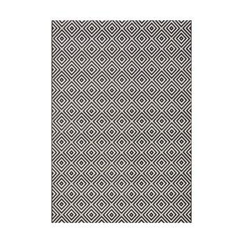 Covor adecvat interior/exterior Bougari Karo, 140 x 200 cm, negru-alb de la Bougari