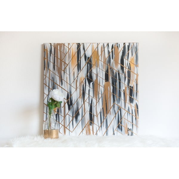 Obraz Golden Stripes, 70x70 cm