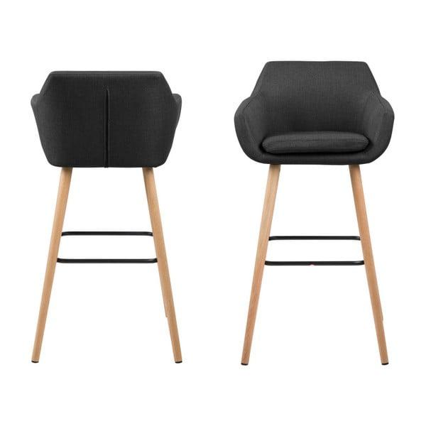 Set 2 scaune pentru bar Actona Nora, gri închis