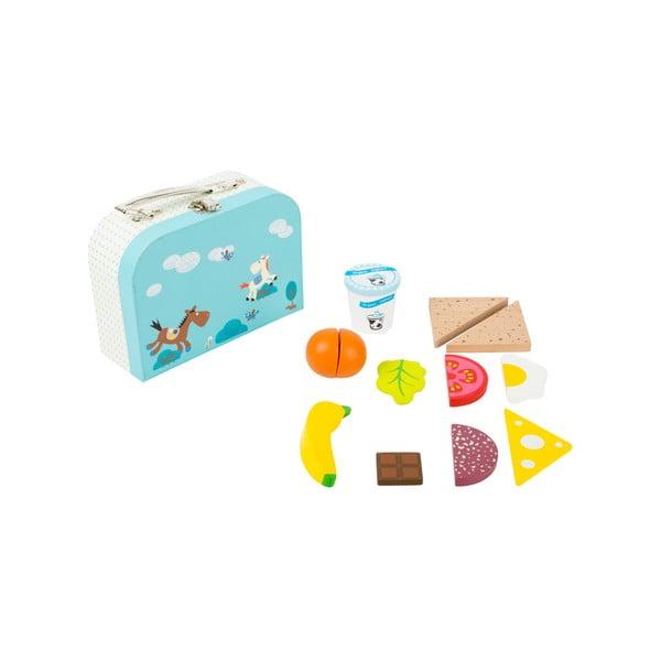 Drevený set detského kufríka a potravín Legler Snack