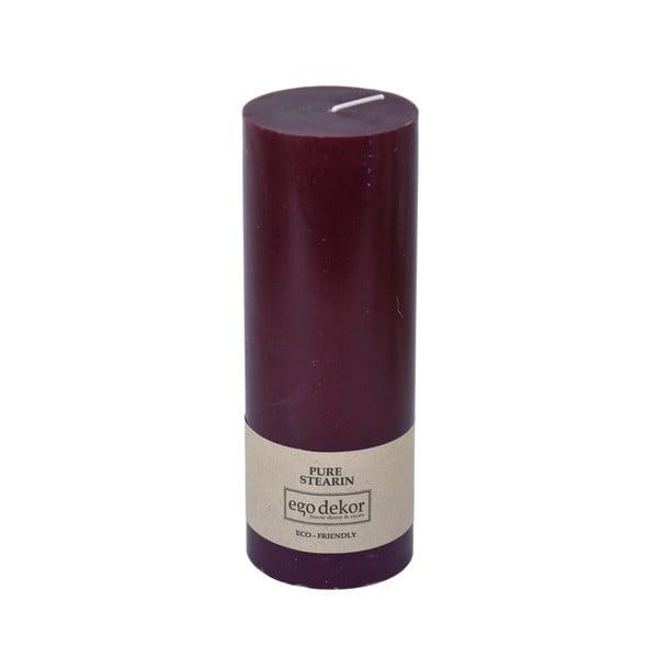 Vínově červená svíčka Baltic Candles Eco, výška 20cm