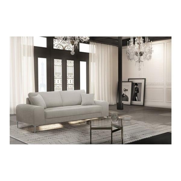 Set canapea crem cu 3 locuri, 4 scaune albastre, o saltea 160 x 200 cm Home Essentials