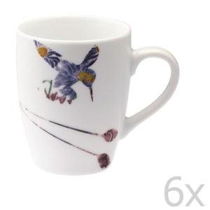 Sada 6 porcelánových hrnků Flutter, 300 ml