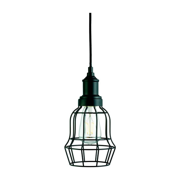Stropní svítidlo Searchlight Bell Cage, černá