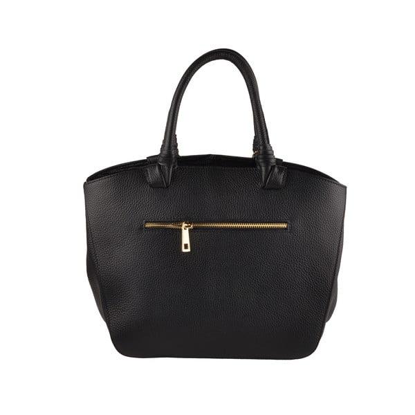 Kožená kabelka Emilio Masi Bristol, černá