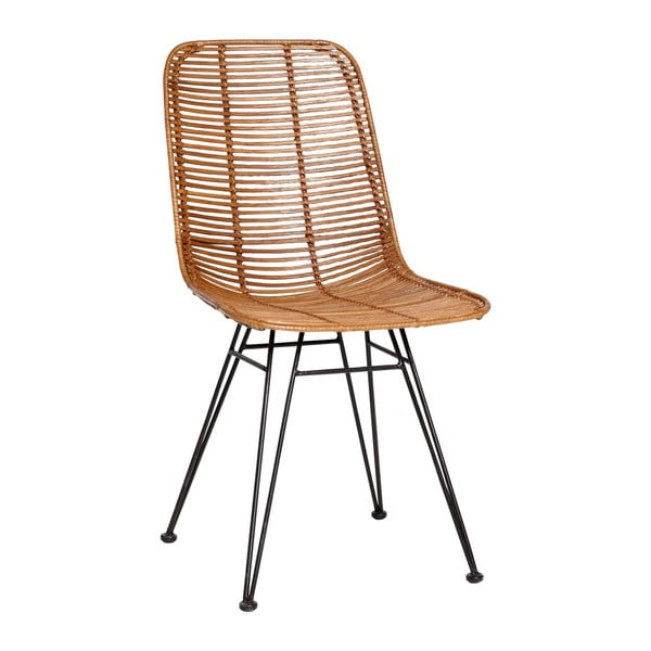 Přírodní ratanová židle Hübsch Bergitte