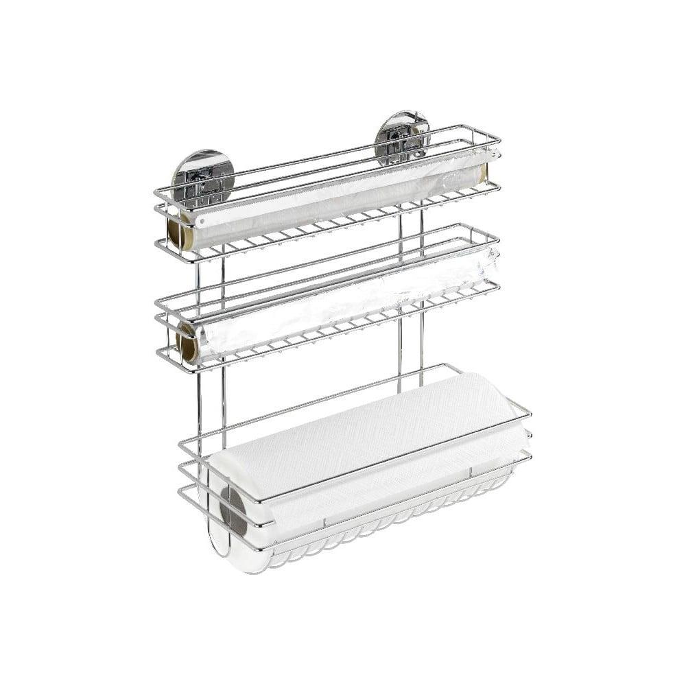 Samodržící držák na kuchyňské utěrky a folie Wenko Turbo-Loc, až 40 kg