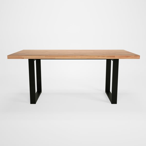 Jedálenský stôl sdubovou doskou Artemob Concepto U, 180×90cm
