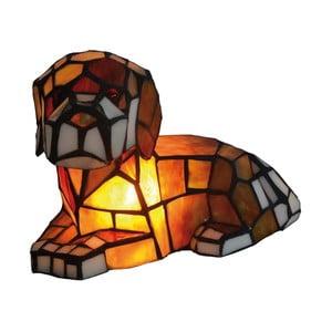 Tiffany stolní lampa Dog
