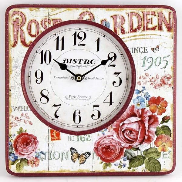 Nástěnné hodiny Rose Garden