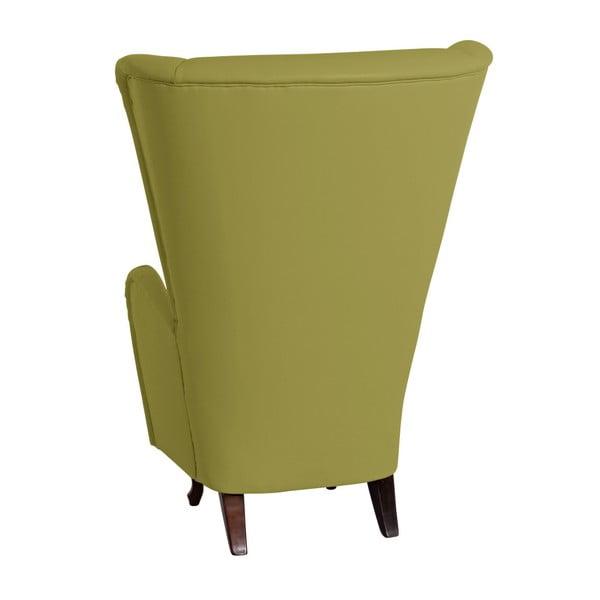 Zelené křeslo ušák Max Winzer Agnetha