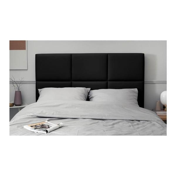 Černé čalouněné čelo postele THE CLASSIC LIVING Aude, 160x120cm