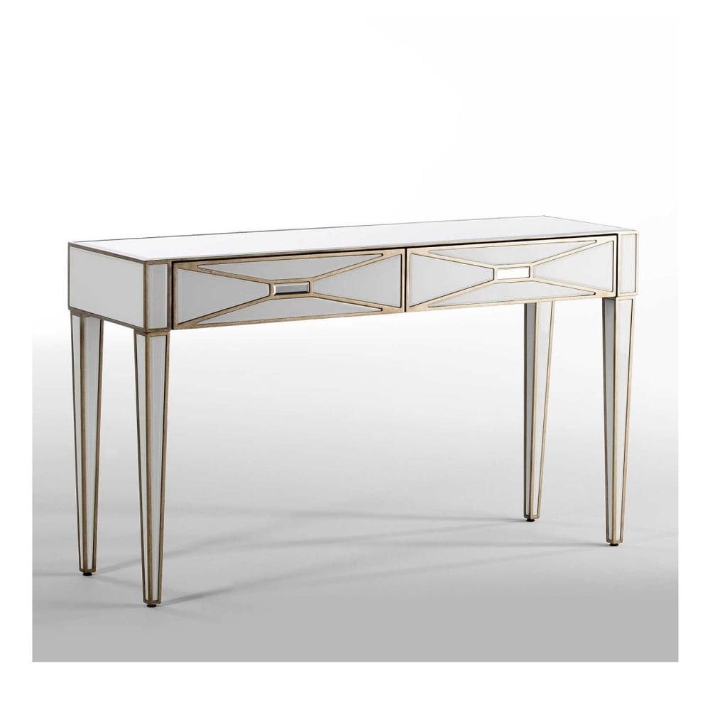 Zrcadlový konzolový stolek se 2 zásuvkami Thai Natura, délka133cm