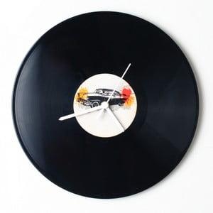 Vinylové hodiny Retro Car