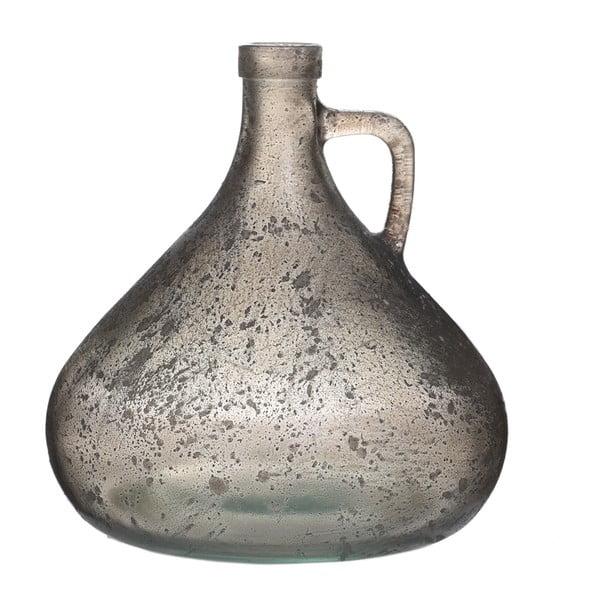 Skleněná váza Goose, 18 cm, šedá