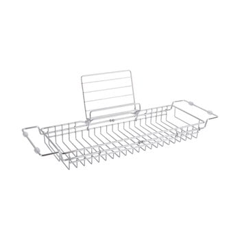 Suport reglabil din metal pentru cadă PT LIVING Tub, 61 - 86 cm, argintiu imagine