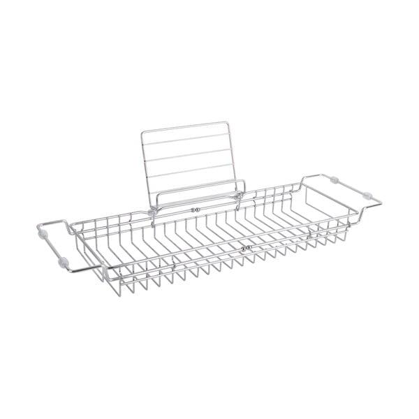Suport reglabil din metal pentru cadă PT LIVING Tub, 61-86cm, argintiu