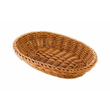 Coș oval pentru masă Saleen, 21x15cm, bej imagine