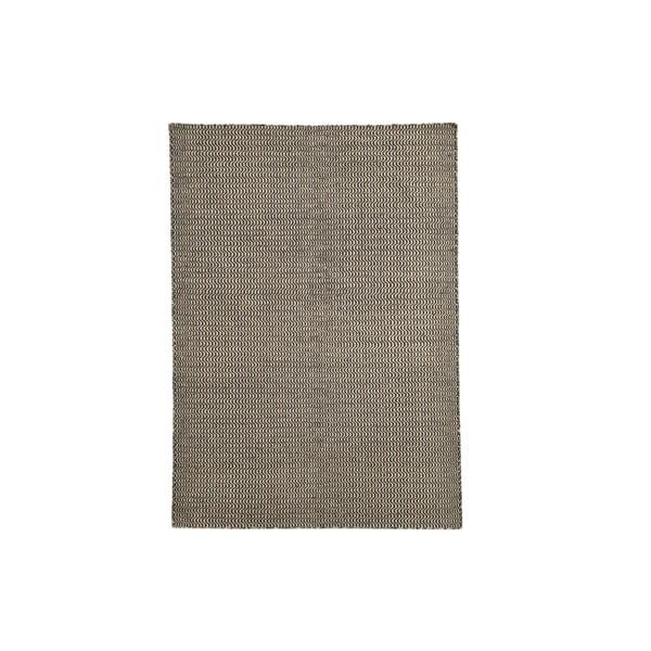 Ručně tkaný koberec Black and White Waves Kilim, 152x224 cm