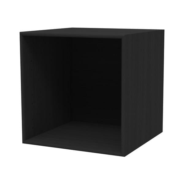 Černá nástěnná police WOOD AND VISION Choice, 39,7 x 39,7 x 25 x 25 cm