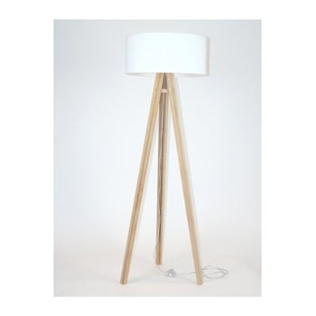 Lampadar cu abajur alb și cablu transparent Ragaba Wanda imagine