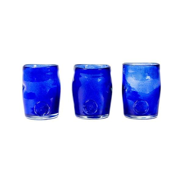 Sada 3 sklenic Gie El, inkoustově modré