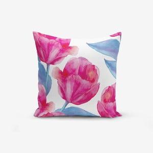 Povlak na polštář s příměsí bavlny Minimalist Cushion Covers Aquarelle Lale, 45 x 45 cm