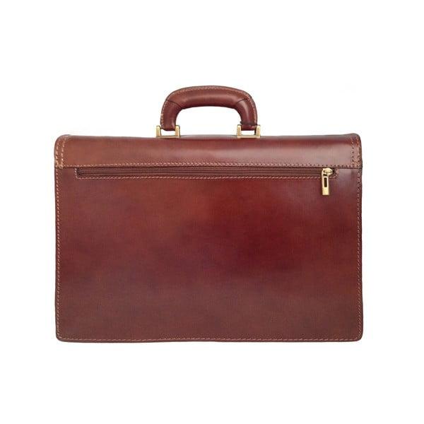 Kožený kufřík Cannonau, čokoládový