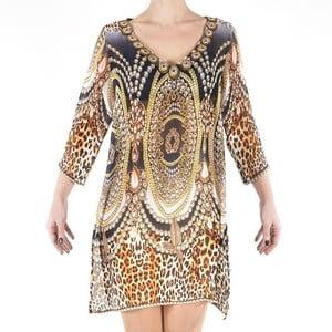 Plážové šaty Kurta Leopard, vel. M