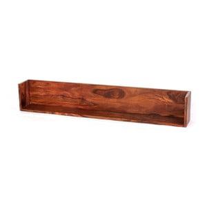 Raft de perete din lemn de palisandru Massive Home Irma, 100 x 22 cm