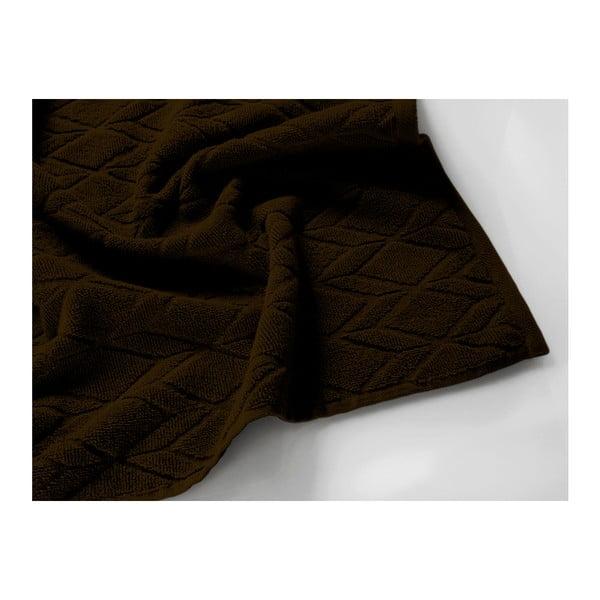 Tmavě hnědý bavlněný ručník Maison Carezza Venezia, 50 x 70 cm