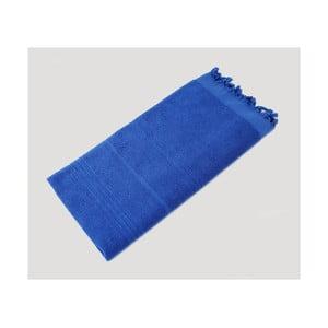 Modrá ručně tkaná osuška z prémiové bavlny Homemania Turkish Hammam, 90 x 180 cm