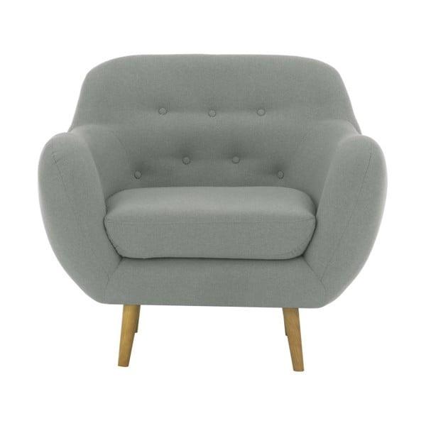 Szarozielony fotel Vivonita Gaia