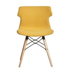 Sada 4 žlutých jídelních židlí Marckeric Cala