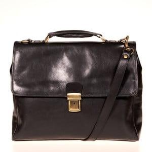Černá kožená taška přes rameno Italia in Progress Federico