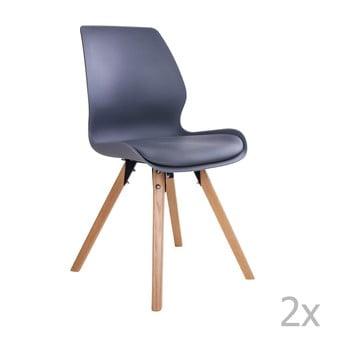 Set 2 scaune House Nordic Rana, negru