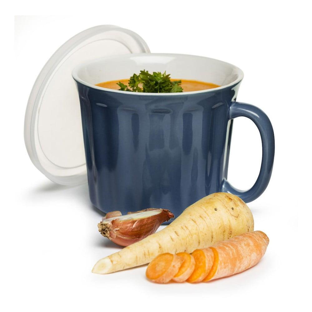 Modrý hrnek na polévku Sagaform, 500 ml