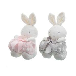 Sada 2 dětských dek s plyšáky Unimasa Rabbits,100x75cm