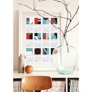 Plakát s kalendářem