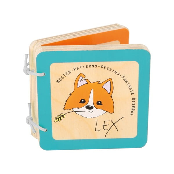 Drewniana książeczka dla dzieci Legler Lex the Fox