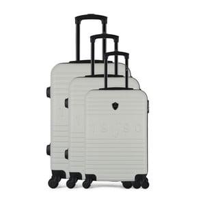 Sada 3 béžových cestovních kufrů na kolečkách GENTLEMAN FARMER Cadenas Integre